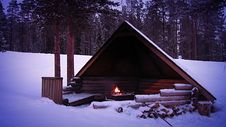 Free Shelter For The Winter Tourist Royalty Free Stock Photo - 35232215