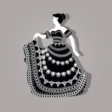 Free Vintage Elegant Woman Illustration Royalty Free Stock Photo - 35233215
