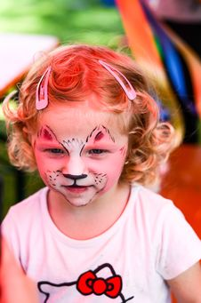 Free Face-painting Stock Photo - 35233830
