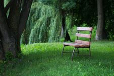 Free Bench In Park Stock Photography - 35234672