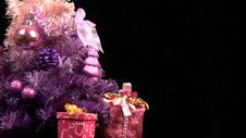 Free Pink Christmas Tree Rotates. Close-up Royalty Free Stock Photo - 35234725
