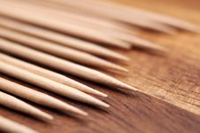 Free Toothpicks Macro Royalty Free Stock Photo - 35235435