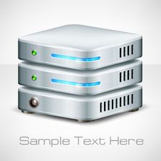 Free Network Server On White Royalty Free Stock Images - 35236499