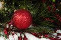 Free Red Sparkling Christmas Ornament Stock Photos - 35240063