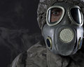 Free The Man In A Gas Mask In Smoke Royalty Free Stock Photos - 35241198