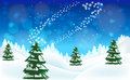 Free Merry Christmas Winter Landscape. Royalty Free Stock Image - 35249456