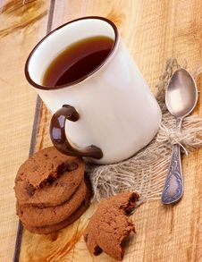 Free Tea And Cookies Stock Photos - 35248973