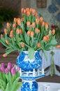 Free Vase Of Tulips Royalty Free Stock Photography - 35255347