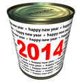 Free Happy New Year 2014 - Can With Numbers 2014 Royalty Free Stock Photography - 35255647