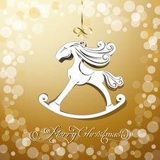 Free Yellow Toy Horse The Symbol Of New Year Stock Photo - 35250760