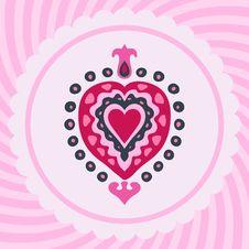Free Valentines Heart Decorative Invitation Stock Images - 35251194