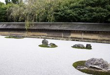 Free Famous Zen Garden Of The Ryoan-ji Temple In Kyoto Stock Images - 35251434