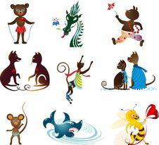 Free Animal Set Stock Images - 35253444