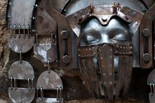 Free Hand-hammered Iron Mask Stock Image - 35255171