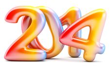 Free 2014 New Year Digits Stock Photography - 35257082