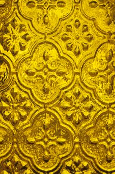 Free Background Of Golden Textured Glass Stock Photo - 35257800