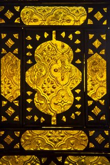 Closeup Of Moroccan Lamp Panel Royalty Free Stock Photo
