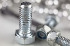 Free Screws And Nuts Royalty Free Stock Photo - 35258465