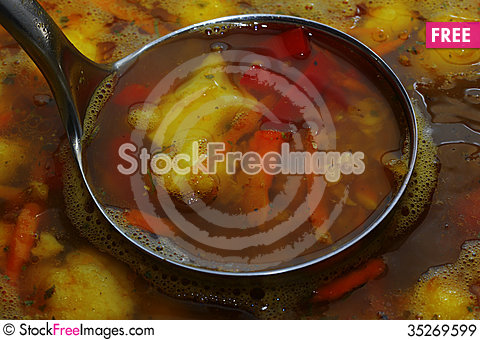 Free Vegetarian Soup Royalty Free Stock Images - 35269599
