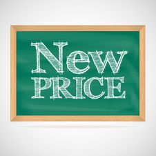 Free New Price - The Inscription Chalk Royalty Free Stock Photos - 35262358