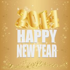 Free Goldene 2014 New Year Stock Photo - 35262950