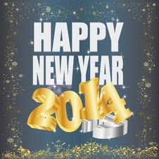 Free Goldene 2014 New Year Royalty Free Stock Photo - 35262995