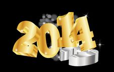 Free Goldene 2014 New Year Royalty Free Stock Image - 35262996