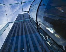 Free New York City Glass And Sky Royalty Free Stock Image - 35266576