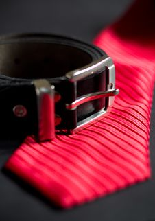 Free Necktie And Belt Royalty Free Stock Photo - 35267185