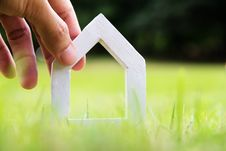 Free Hand Holding Icon House Stock Photography - 35269422