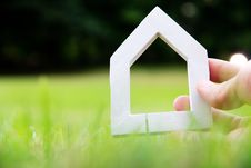 Free Hand Holding Icon House Royalty Free Stock Photo - 35269655