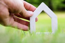 Free Hand Holding Icon House Royalty Free Stock Photo - 35269705