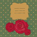 Free Retro Vector Background With Roses Royalty Free Stock Photography - 35270417