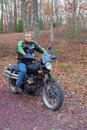 Free Man On A Motorcycle Stock Photos - 35274393