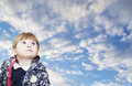 Free The Girl Of 1 Year Looks Up. Royalty Free Stock Photo - 35278105