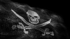 Free Pirate Black Flag Royalty Free Stock Photography - 35270707