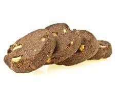 Free Peanut Cookies Line Royalty Free Stock Image - 35274916