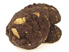 Closeup Brownie Cookies Stock Photos