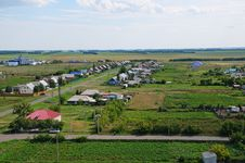 Free The Village In Russia. View From Up. Gardens Royalty Free Stock Photos - 35275918