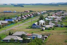 Free The Villagein Russia. View From Above Royalty Free Stock Image - 35276176