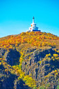 Free The White Pagoda On The Autumn Hill Stock Images - 35287214