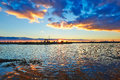 Free The Lake In The Afterglow And Cloudscape Stock Photography - 35287472
