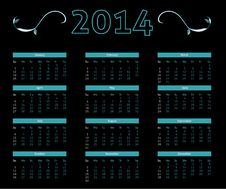 Free 2014 Calendar Royalty Free Stock Images - 35284679