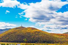 Free The Autumn Forest Hill And White Tower Royalty Free Stock Photo - 35286535