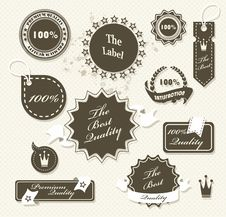 Free Set Of Vintage Retro Premium Quality Badges Royalty Free Stock Photography - 35289317