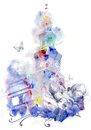 Free Watercolor Tower Royalty Free Stock Photo - 35291355
