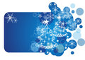 Free Christmas Card. Blue Vector Illustration Stock Image - 35293261