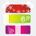 Free Banner Set With Gifts And Snowflakes Royalty Free Stock Images - 35293689
