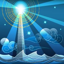Free Digital Lighthouse Royalty Free Stock Photography - 35290547