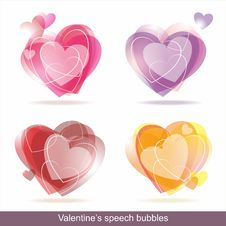 Free Hearts Speech Bubbles Stock Images - 35290704